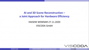 AI and 3D Scene Reconstruction – a Joint Approach for Hardware Efficiency
